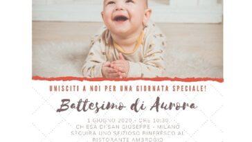 invito battesimo sorriso