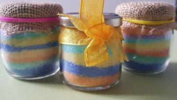 vasetti di sale colorato